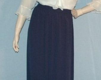 5872f3f7e SALE Was 24.50 Vintage 80s Boho Rayon Crinkle Skirt Size L Waist 30 to 38  w/more stretch