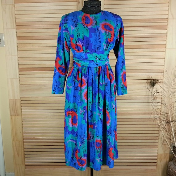 Colorful vintage Malia dress USA Size 6