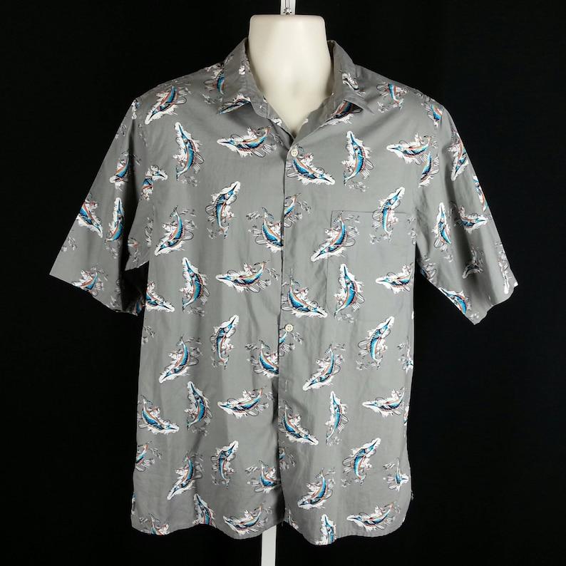 c8f03c94 Vintage Hawaiian shirt Reyn Spooner marlin sailfish fishing | Etsy