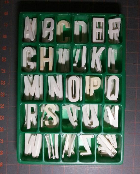 Ensembles de haut lettres et minuscules lettres haut 2 po haut 1,25 po. bas 29de33