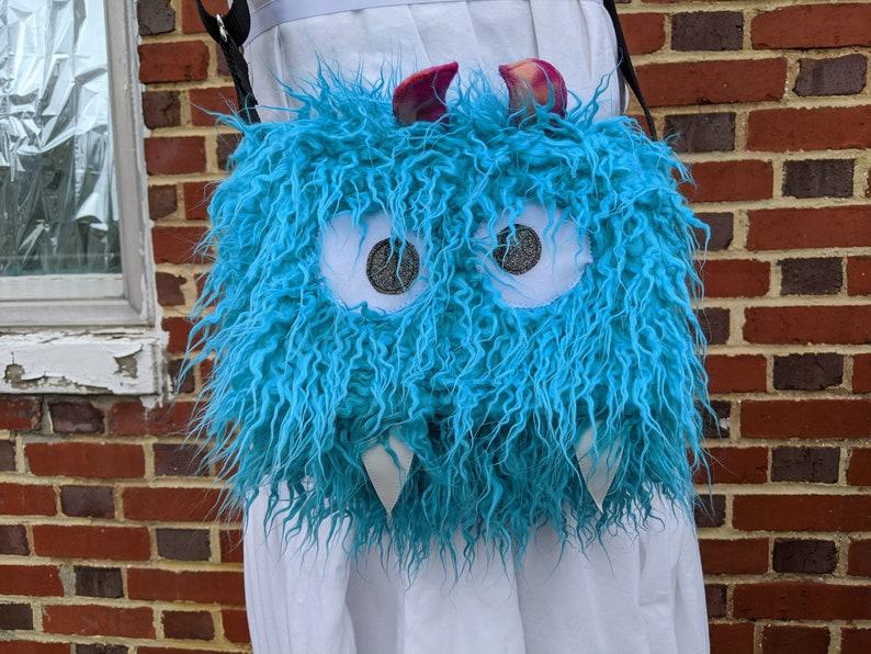 Turquoise Medium NomNom Monster Bag Crossbody Messenger Purse image 0