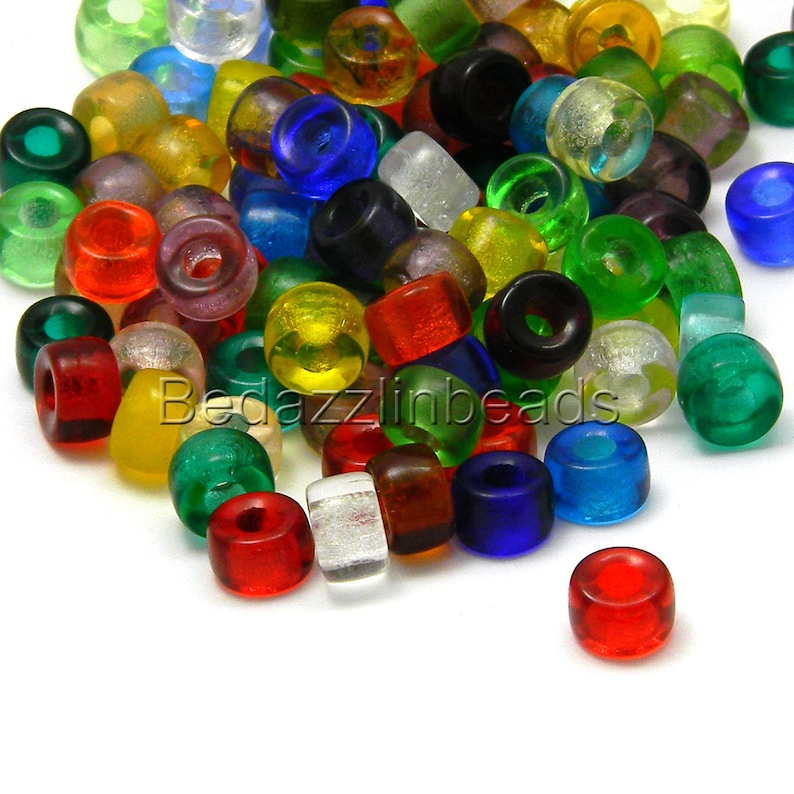 ROYAL BLUE 6MM CRAFT CROW BEADS PACK 100