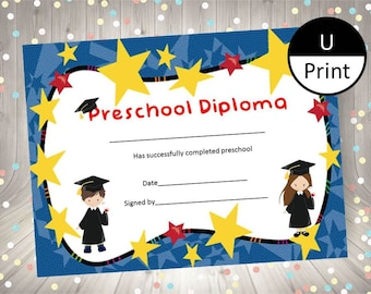 coloring preschool diploma free printable graduation pinterest from