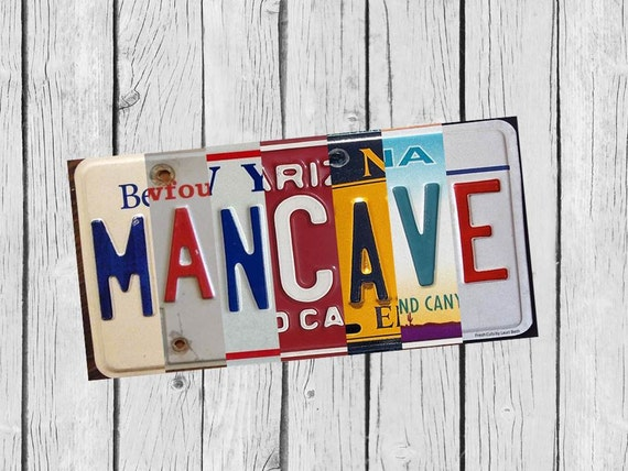 License Plate Art Sign Man Cave Diy Gift Full Size Wall Art Etsy