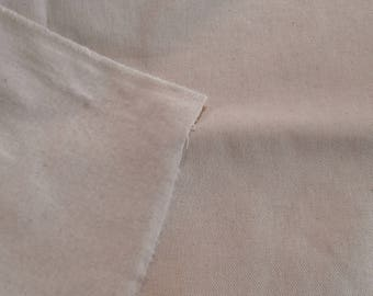 FABULOUS THICK CANTON Flannel backed Twill 100% cotton fabric natural (off white)