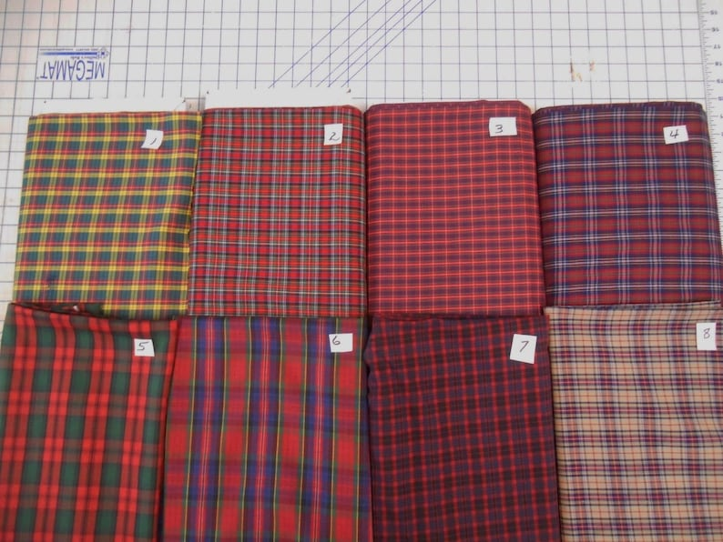Tartan plaid poly cotton lgt fabric yarn dyed Tokai finish 1  484a7bcbac84