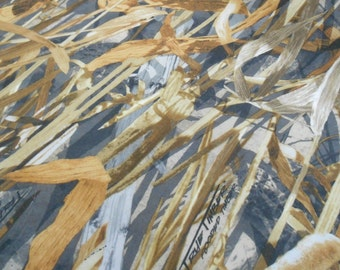 """TRUE TIMBER 100% polyester camo camouflage fabric Flooded Timber Ovation 56""""w"""