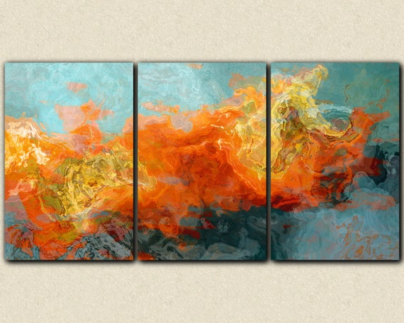Abstract Art Triptych