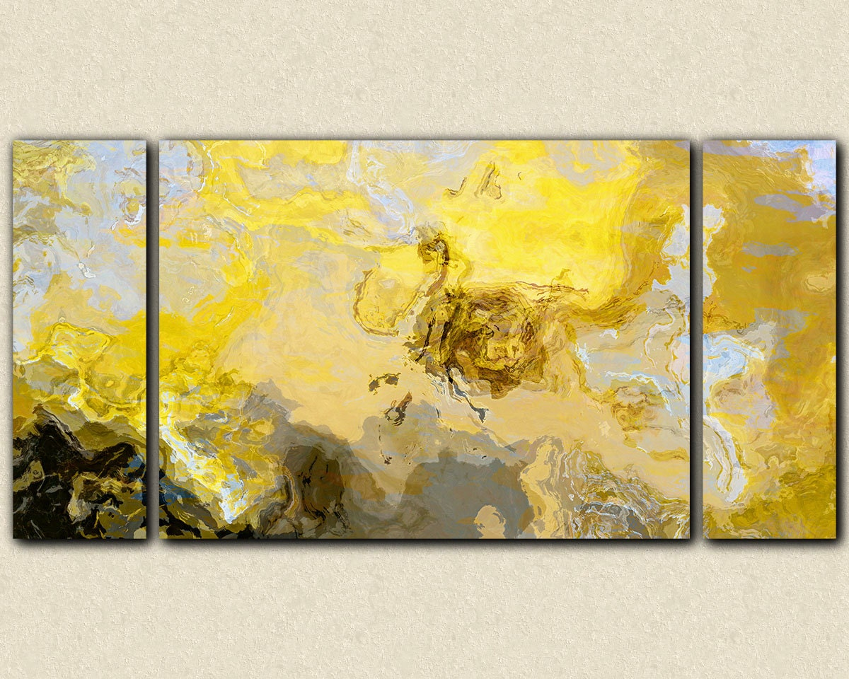 Abstract art print triptych oversize canvas print 30x60 to | Etsy