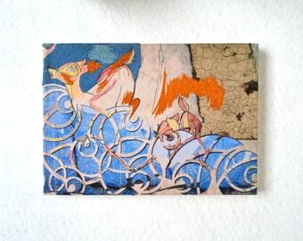 Wallflower- Fiber Art, Mixed Media, Textile Embroidered Original Art Work.