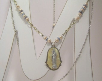 Religious Rosary Mother Mary  Devotion Necklace Series Our Lady Mother Mary