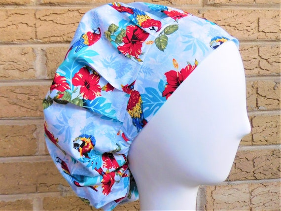 Flower Bouffant Scrub Hat for Women primary Colors Women/'s Chemo Cap Surgical
