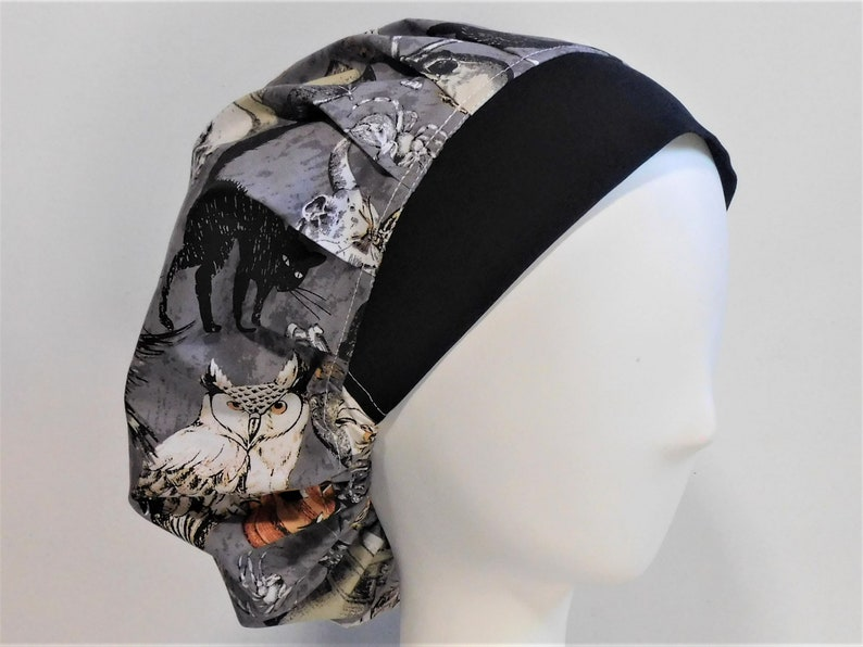 BOUFFANT STYLE SURGICAL Scrub Hat HALLOWEEN