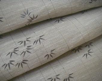 Vintage linen Japanese kimono fabric (bamboo) never used
