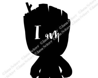 Baby Groot   I am Groot   SVG file for Cricut and Silhouette