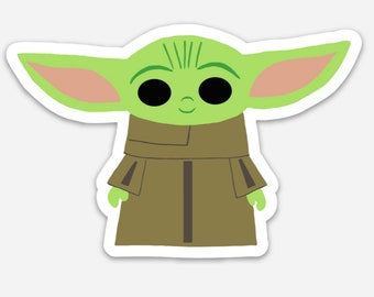 Baby Alien   Baby Space Alien   Child   Baby Yoda-inspired Sticker, Decal