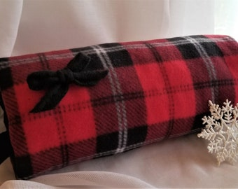 Buffalo Plaid Red Check Reversible Hand Warmer Muff Wristlet With Pocket For Smartphone Designed by handcraftusa Etsy