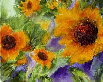 Painting #Original #Sunflowers #Acrylic #Wall Art #Home Decor