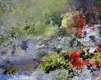Painting Art Original Acrylic Abstract Impressionism In the Garden