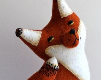 Fox Plush Folk Woodland Wool - Pumpkin Fox