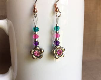 Spring! ... Extreme Decaf Earrings .. FREE U.S. SHIPPING