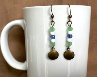 Earrings - House of Madeleine Rouche...Extreme Decaf...FREE U.S. SHIPPING
