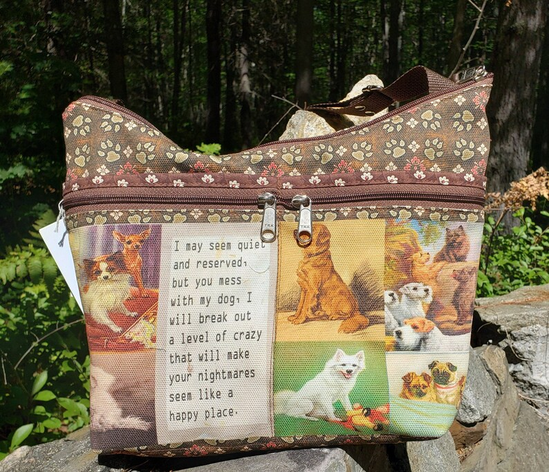 Dog Themed Purse with Tons of Pockets Little Purse.  Free image 0