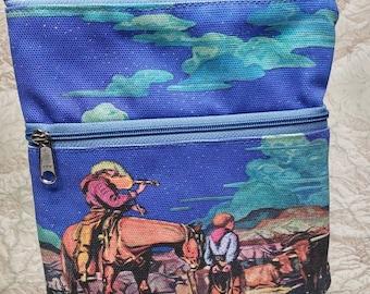 Vintage Inspired Original Fabric Travel/Casino Purse.  Free Shipping.