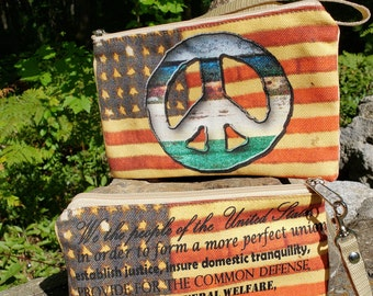 Flag Themed Wristlet - Free Shipping