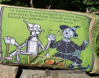 Vintage Wizard of Oz Pillow Case.  100%  Cotton.  Preshrunk.  FREE SHIPPING.