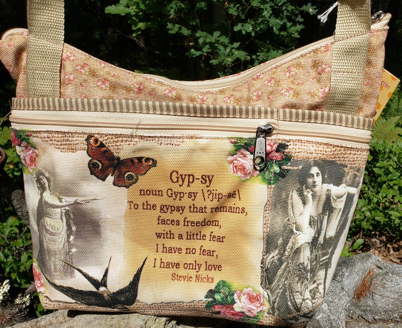 Gypsy Purse with Tons of Pockets Little Purse.  Free Shipping image 0