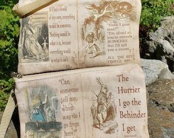 Alice in Wonderland Themed Wristlet - Free Shipping