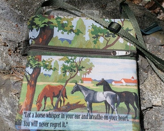 Horse Themed Travel Purse -  Free Shipping.