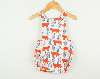 5d0d2a8477 boho baby romper / tiger print baby clothes / toddler playsuit / organic  girls clothes / romper / summer baby clothes // beach baby clothes
