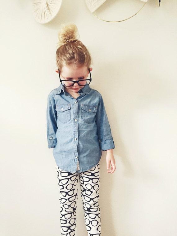 vestiti del bambino     organici leggings in vetri stampa      d2281e2c62bd
