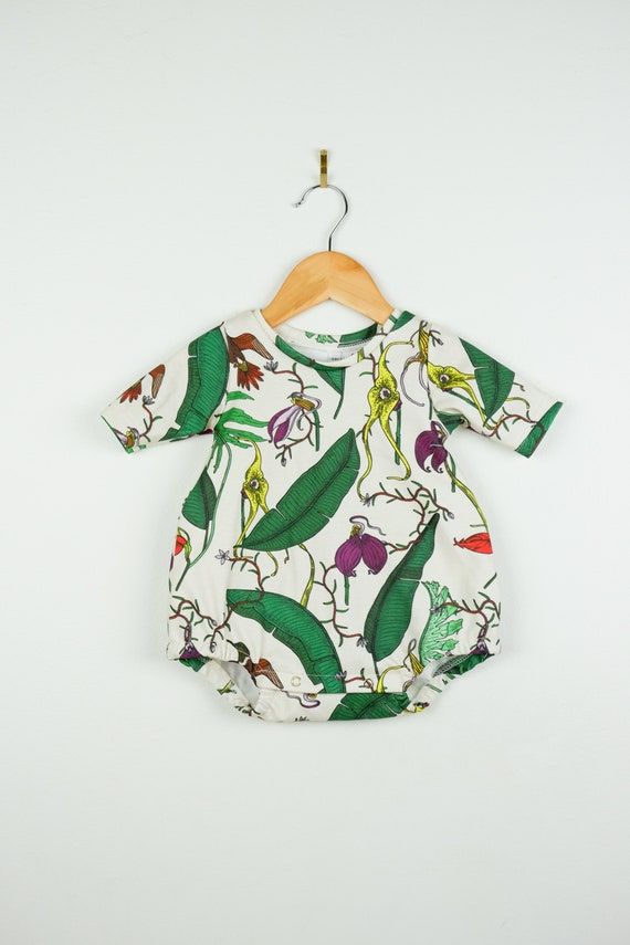 14ae0a9fd6d1 Orchid bubble romper    baby girl clothing    Organic baby