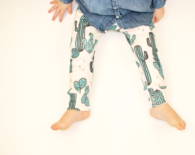 baby clothes // organic cactus leggings // baby leggings // baby pants // toddler pants / kids clothes / baby clothing / boys pants /