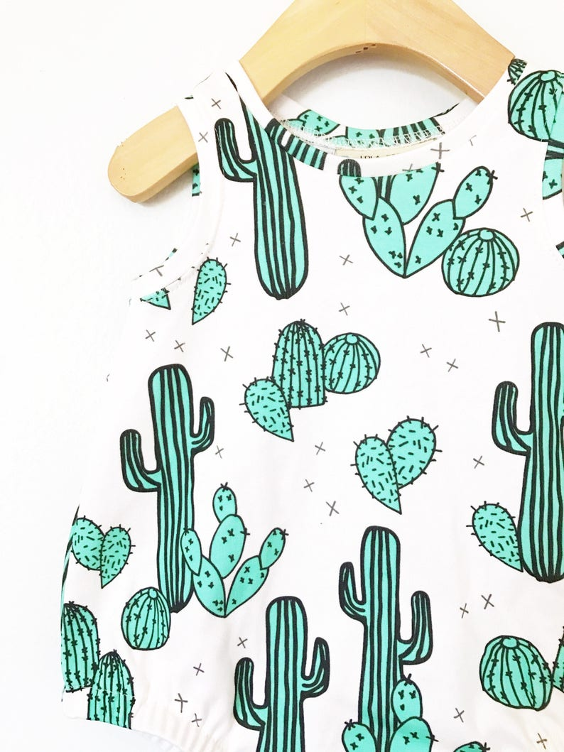 Cactus baby romper // Organic baby clothes // baby boy | Etsy