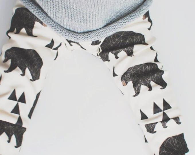 baby leggings / organic baby leggings / baby clothes / kids clothes /  baby boy pants / organic baby clothes / baby leggings bear