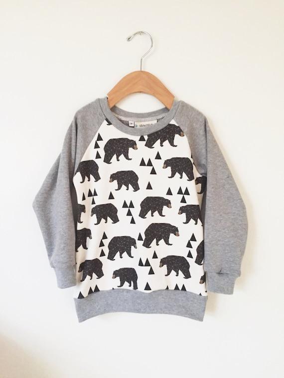 55820ecee Baby boy clothes Organic bear sweatshirt organic toddler