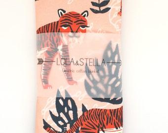 baby blanket // Organic baby blanket in tiger print // organic swaddle blanket // organic baby blanket // swaddle blanket // baby gift
