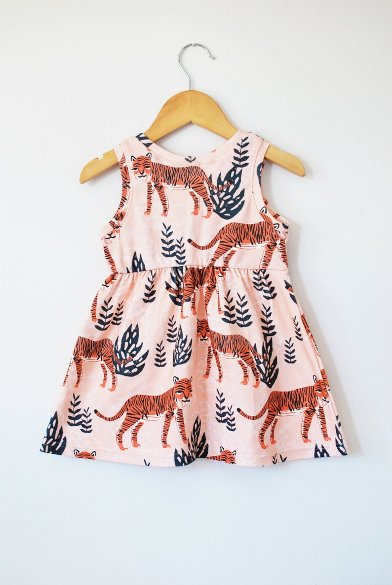 246cbb8d7b92 Tiger baby dress // organic toddler dress // twirl dress // | Etsy