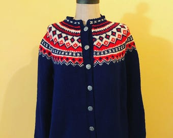 Comfy, patterned wool button up
