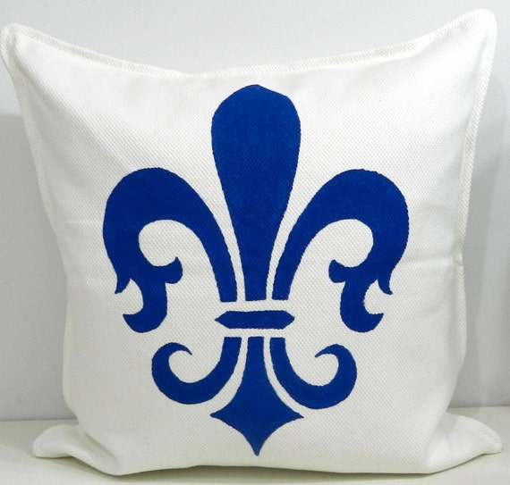 French silk screen pillow case