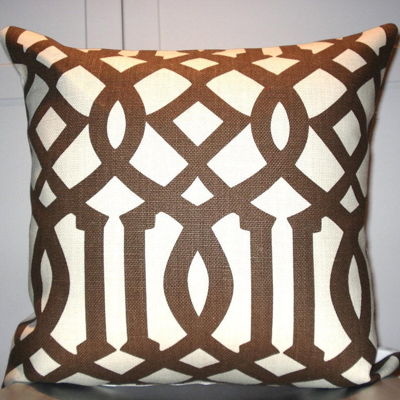 Kelly Wearstler Imperial Trellis in Java 18x18 pillow cover image 0