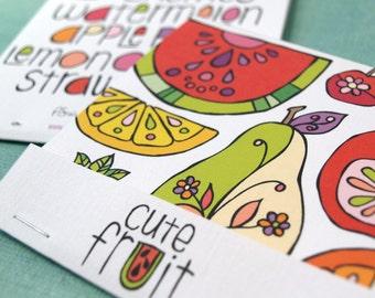 Fruit Matchbook Notebook - Cute Fruit