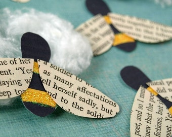 Bees - recycled paper accents - Bizzy Bees