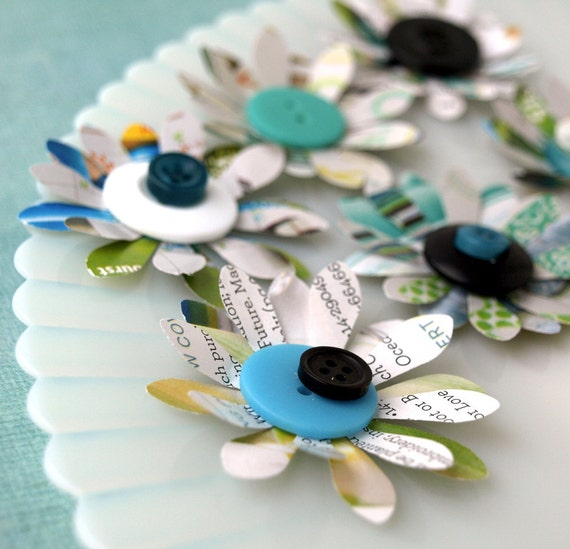 Recycled Paper Flowers Twice As Nice Made From Recycled Etsy