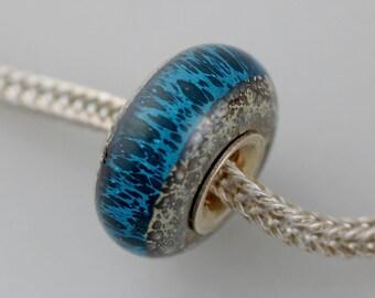 Classic Old Earth Aqua Remake - (OE Bead) - Artisan Glass Bracelet Bead - (AUG-21)