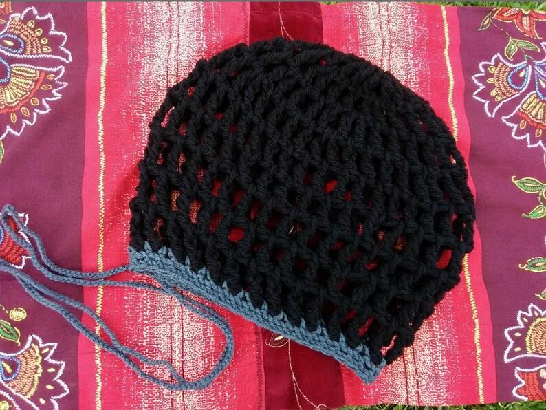 69c9b1f0244 DREAD HAT Handmade Crochet Hat Hippie Hat Boho Hat Rasta Hat